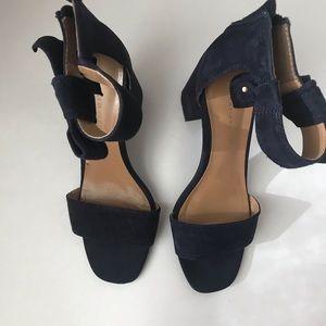 Tommy Hilfiger blue suede sandals